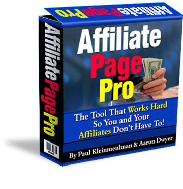 Affiliate Page Pro Box
